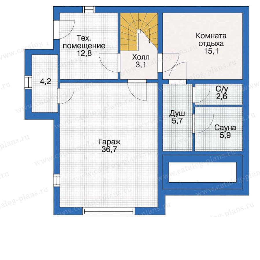 План 1-этажа проекта 10-30