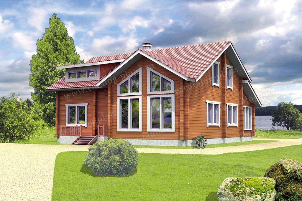 Проект жилой дом #10-23 материал - дерево, стиль скандинавский