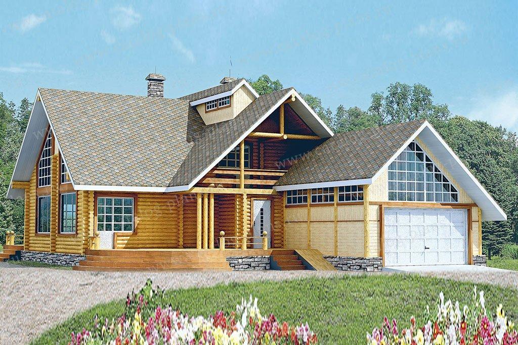 Проект жилой дом #10-10 материал - дерево, стиль шведский