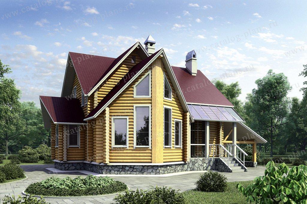 Проект жилой дом #10-25 материал - дерево, стиль современный