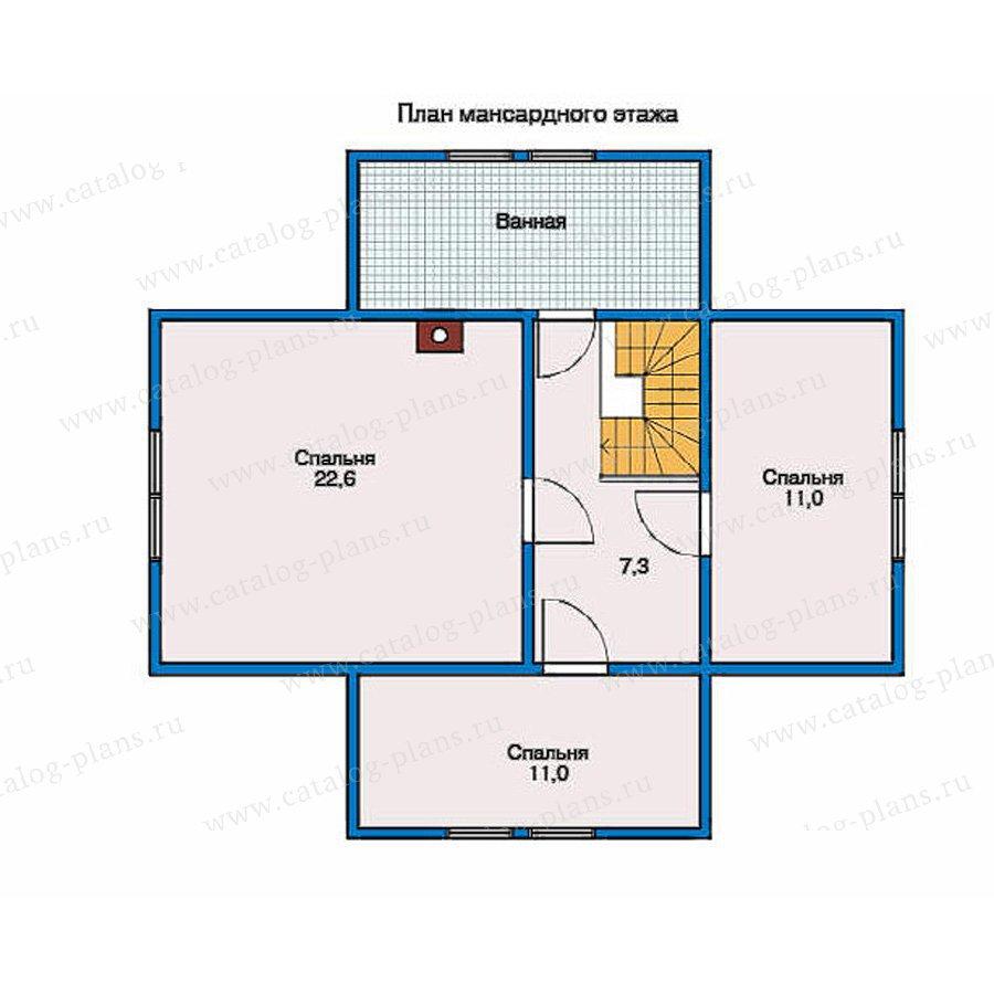 План 2-этажа проекта 10-22