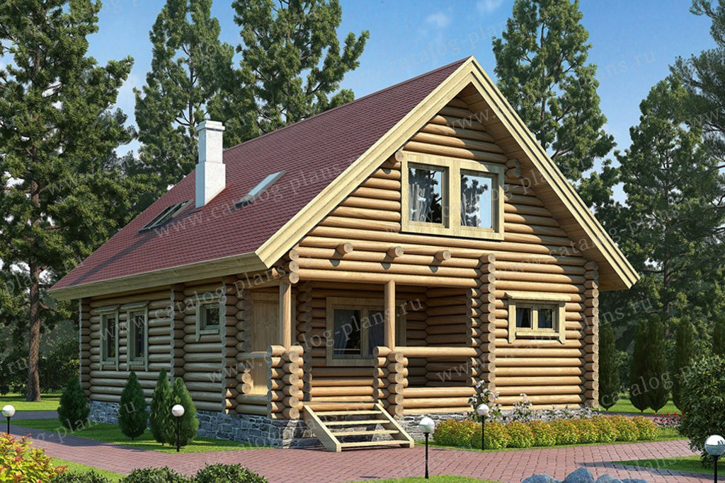 Проект жилой дом #10-18 материал - дерево, стиль шведский