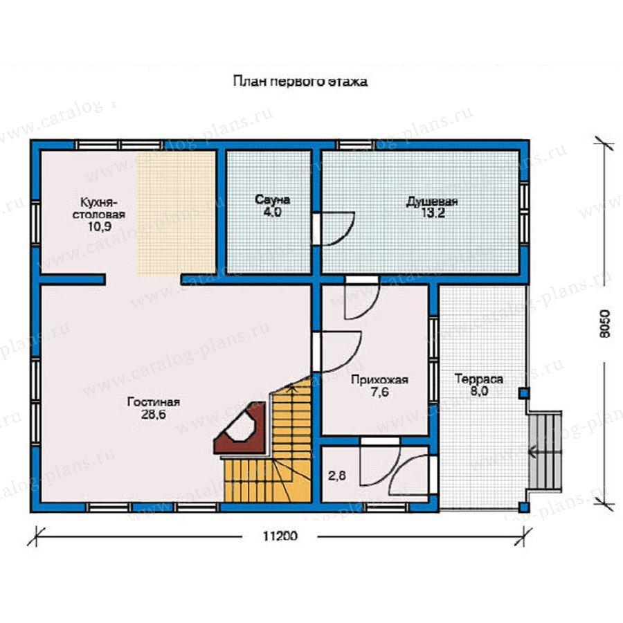План 1-этажа проекта 10-18