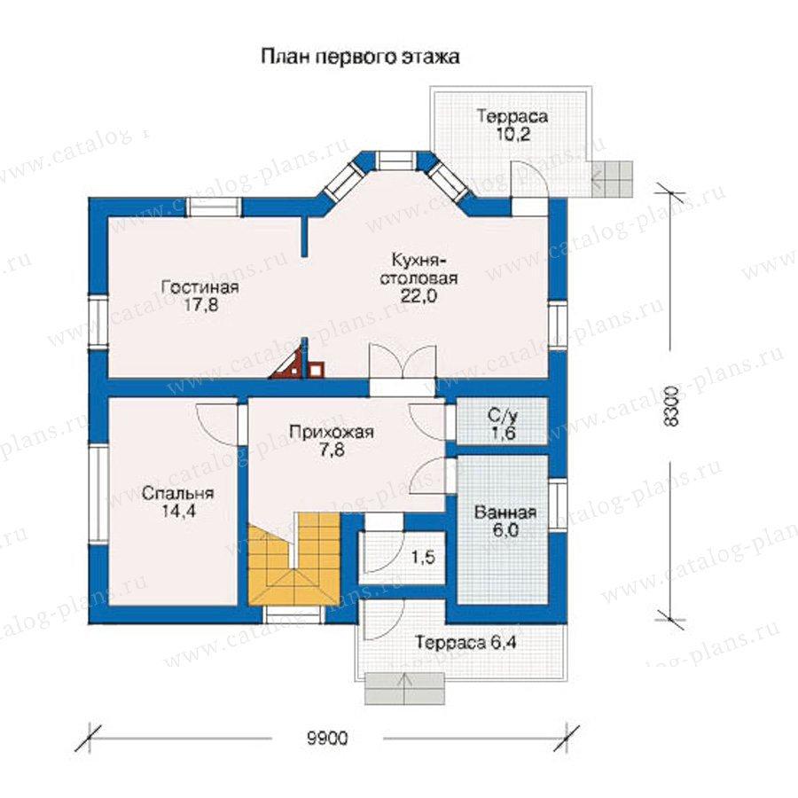 План 1-этажа проекта 10-24