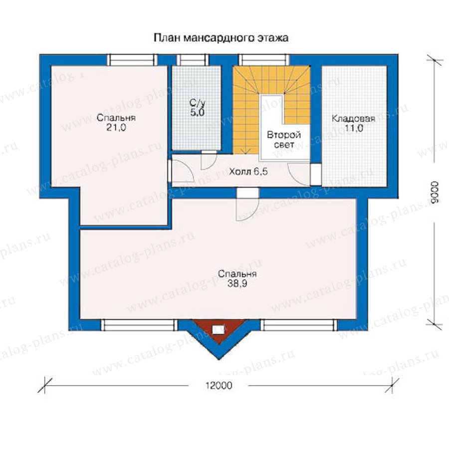 План 2-этажа проекта 10-28