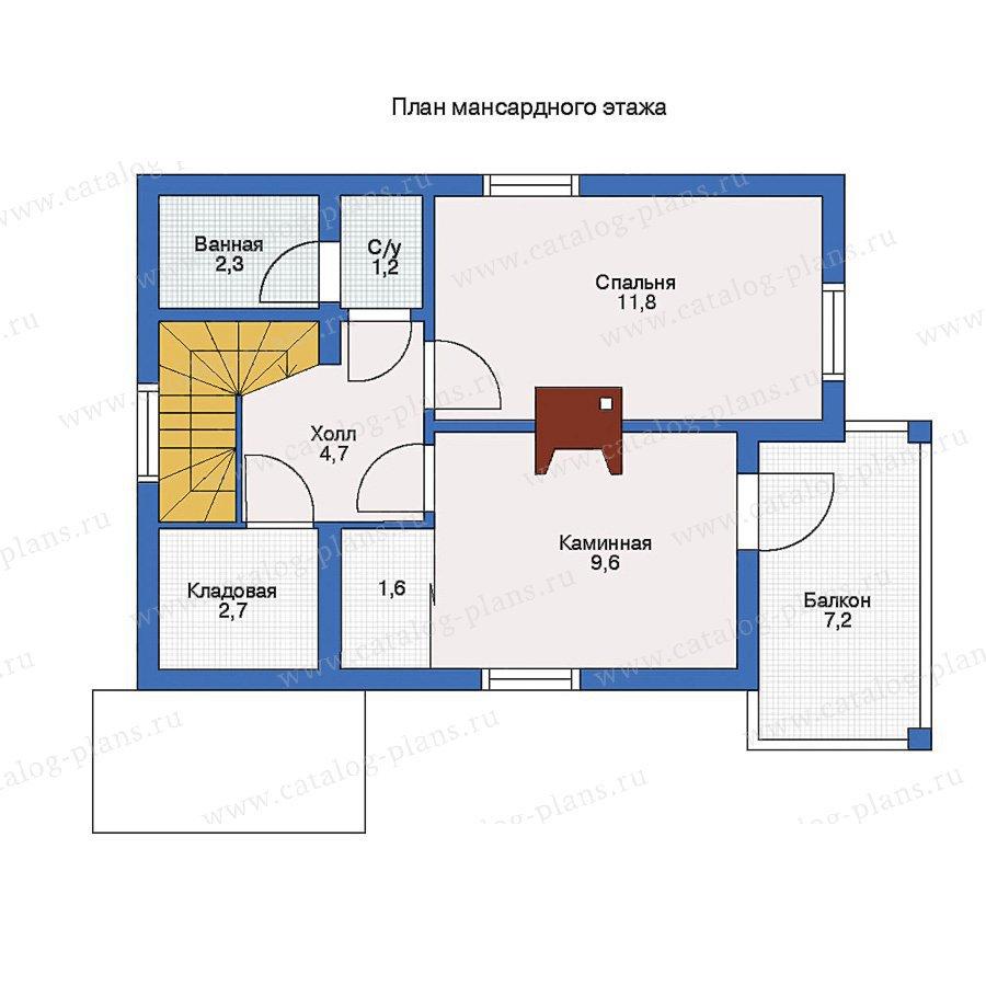 План 2-этажа проекта 10-15