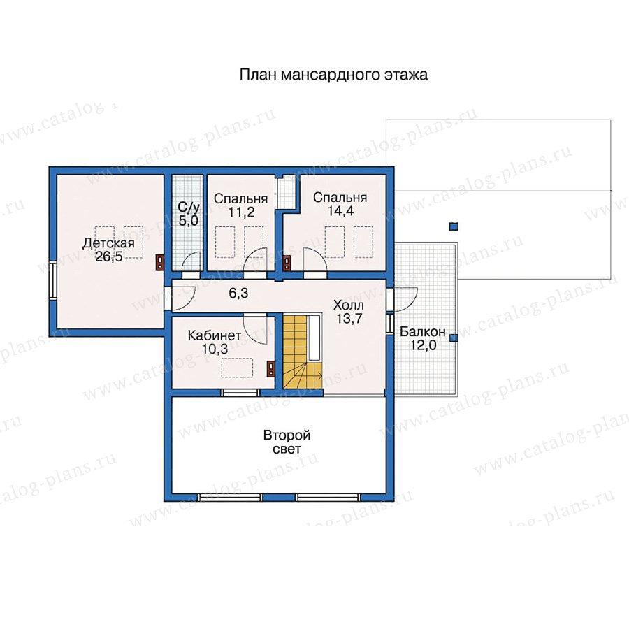 План 2-этажа проекта 10-10