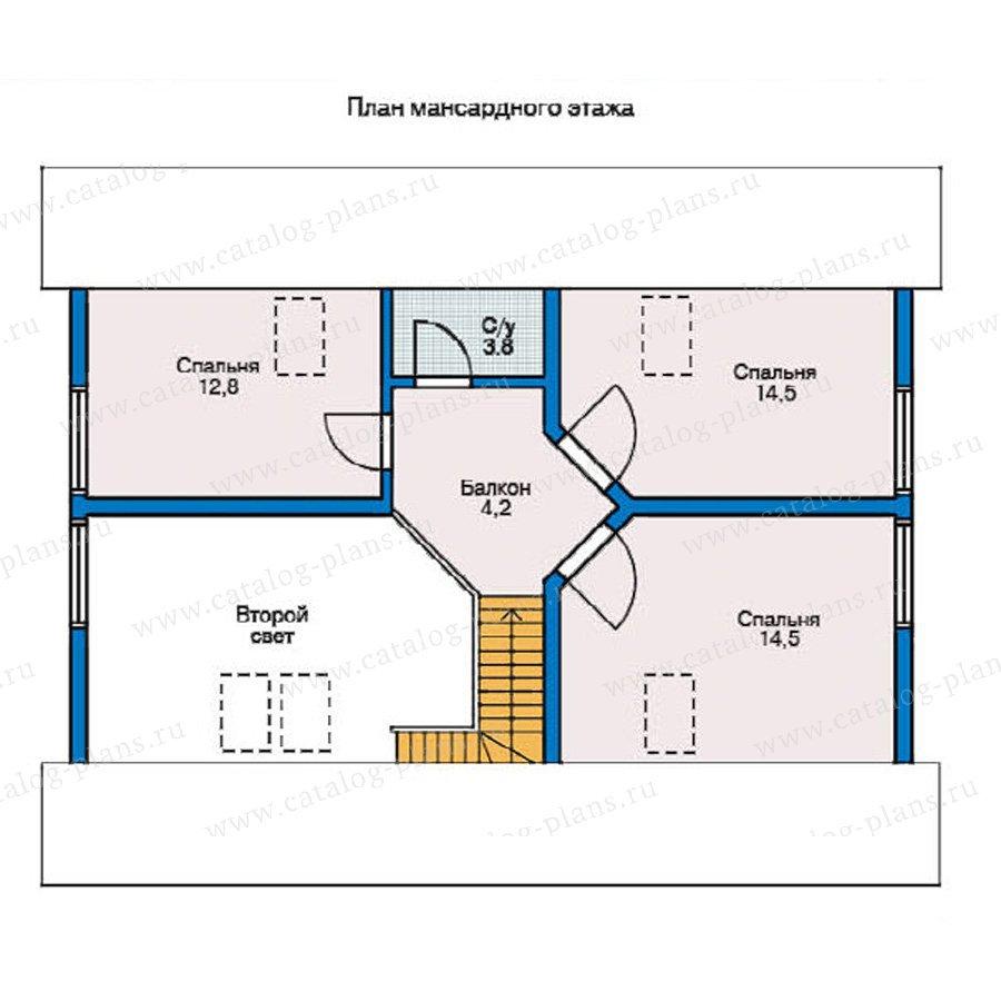 План 2-этажа проекта 10-18