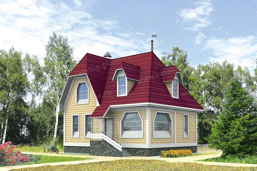 Проект жилой дом #10-27 материал - дерево, стиль европейский