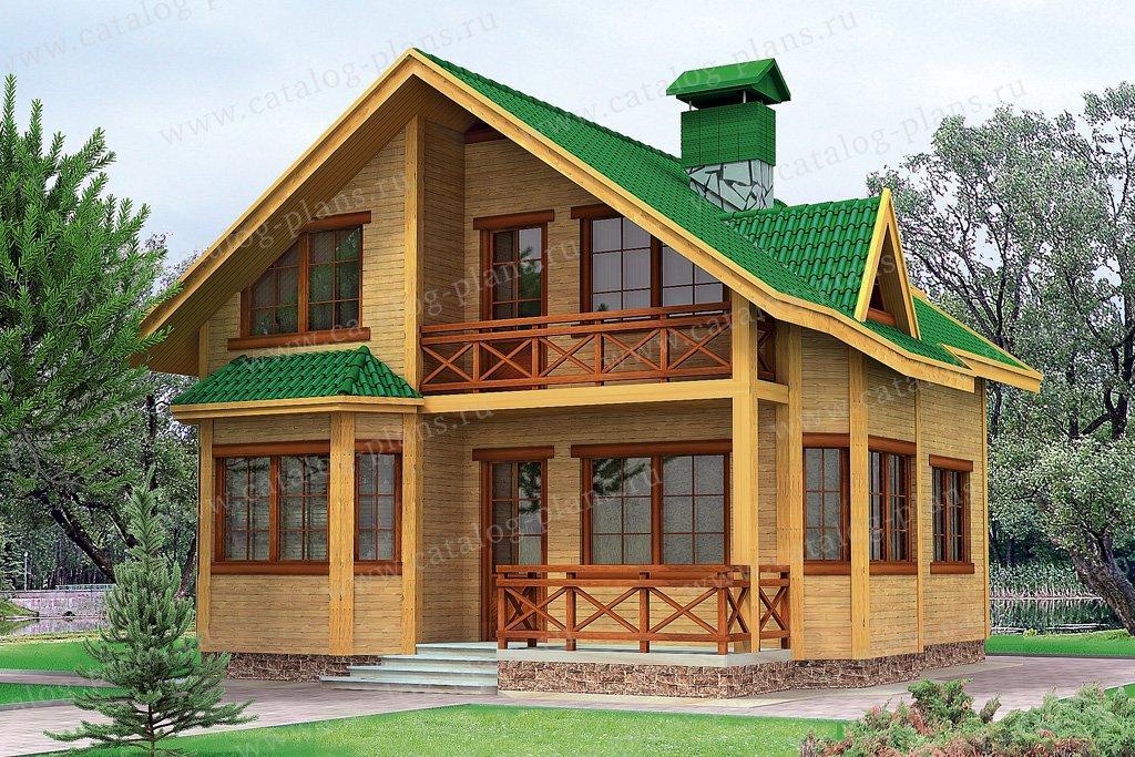 Проект жилой дом #10-52 материал - дерево, стиль скандинавский