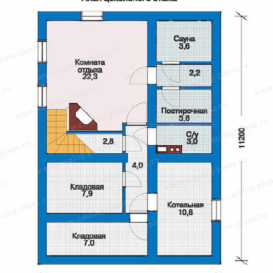 План 1-этажа проекта 10-42