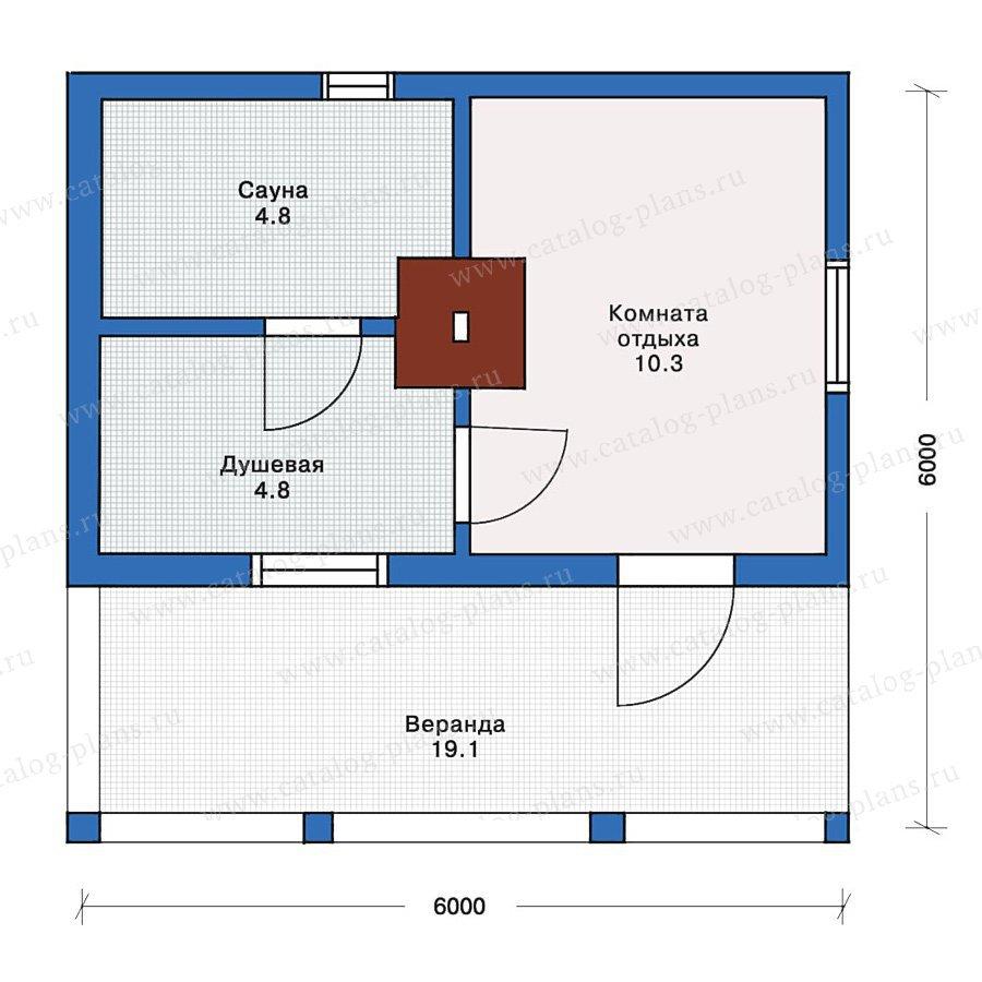 План 1-этажа проекта 10-60
