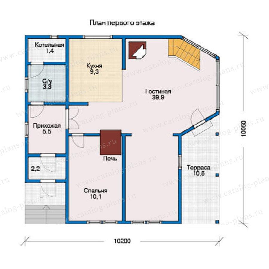 План 1-этажа проекта 10-33