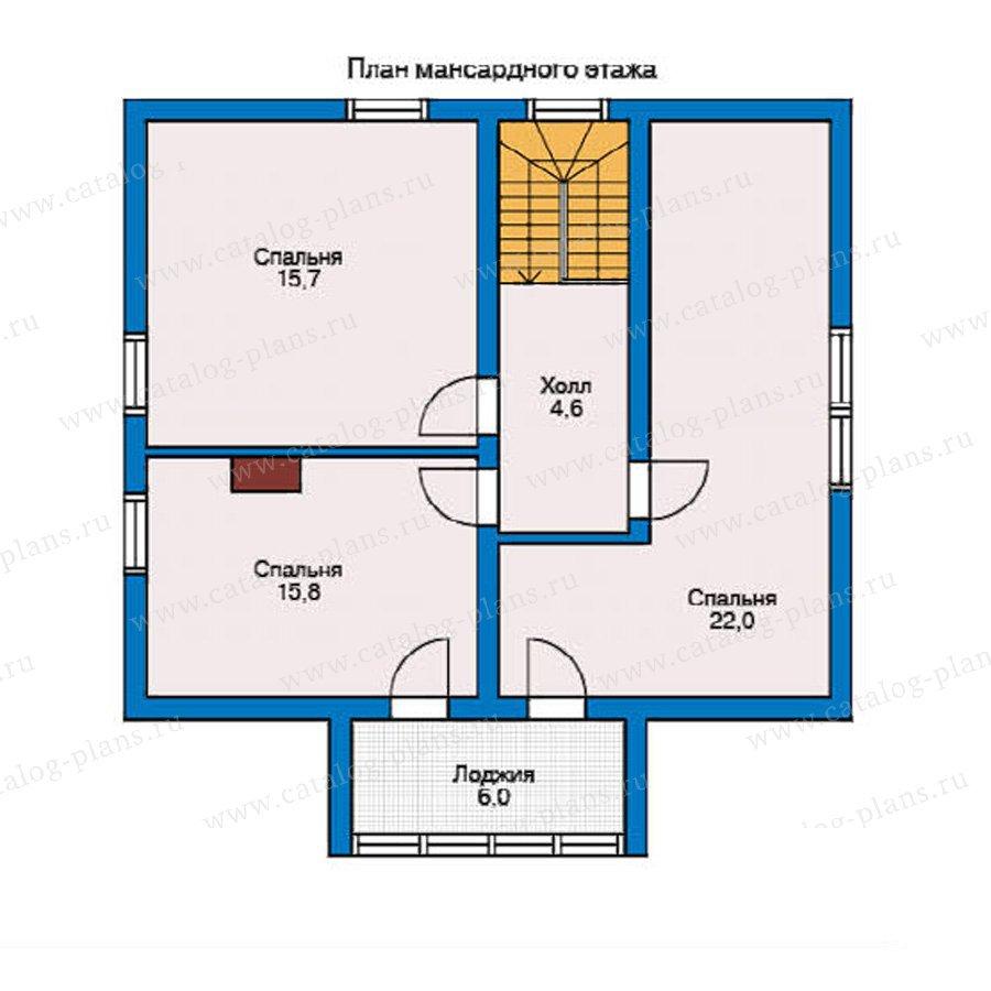 План 2-этажа проекта 10-35