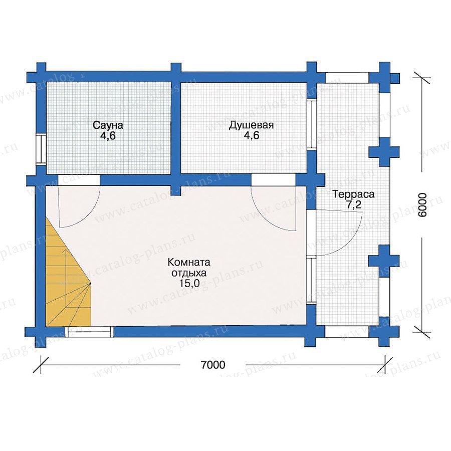 План 1-этажа проекта 10-61