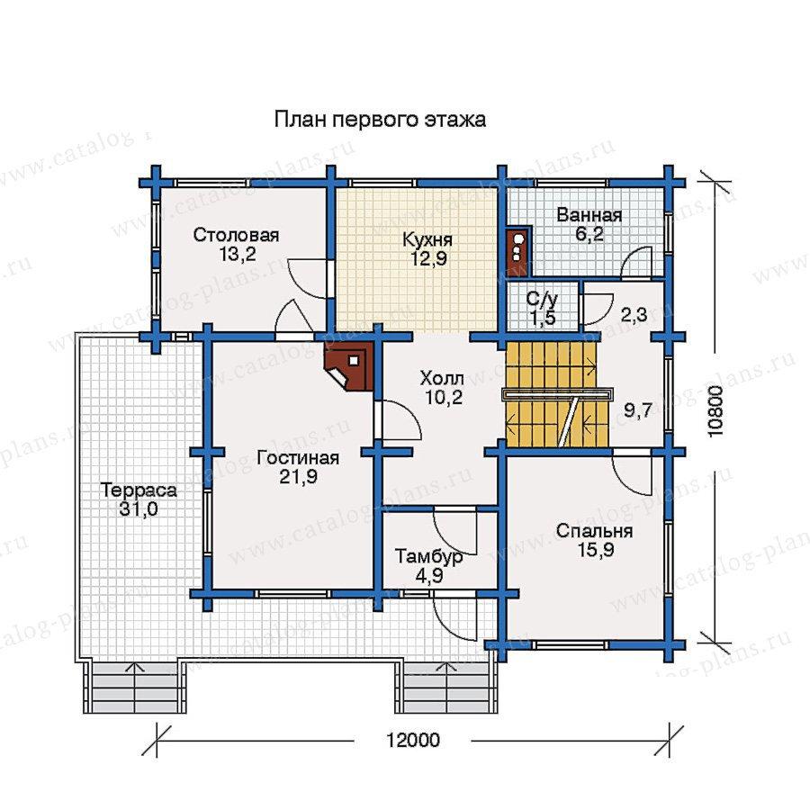 План 2-этажа проекта 10-34