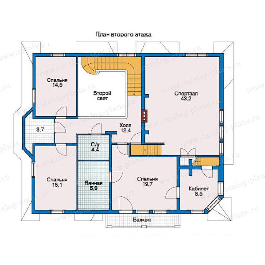 План 2-этажа проекта 10-36
