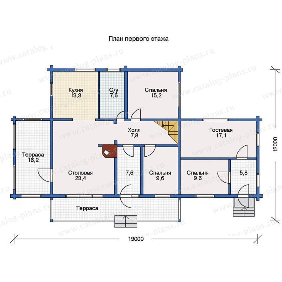 План 1-этажа проекта 10-67