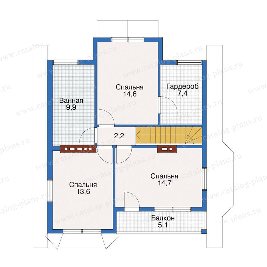 План 2-этажа проекта 10-52