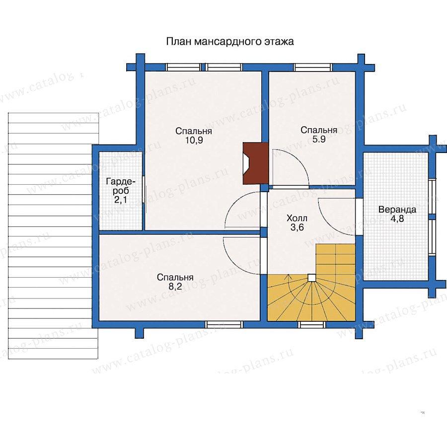 План 2-этажа проекта 10-58