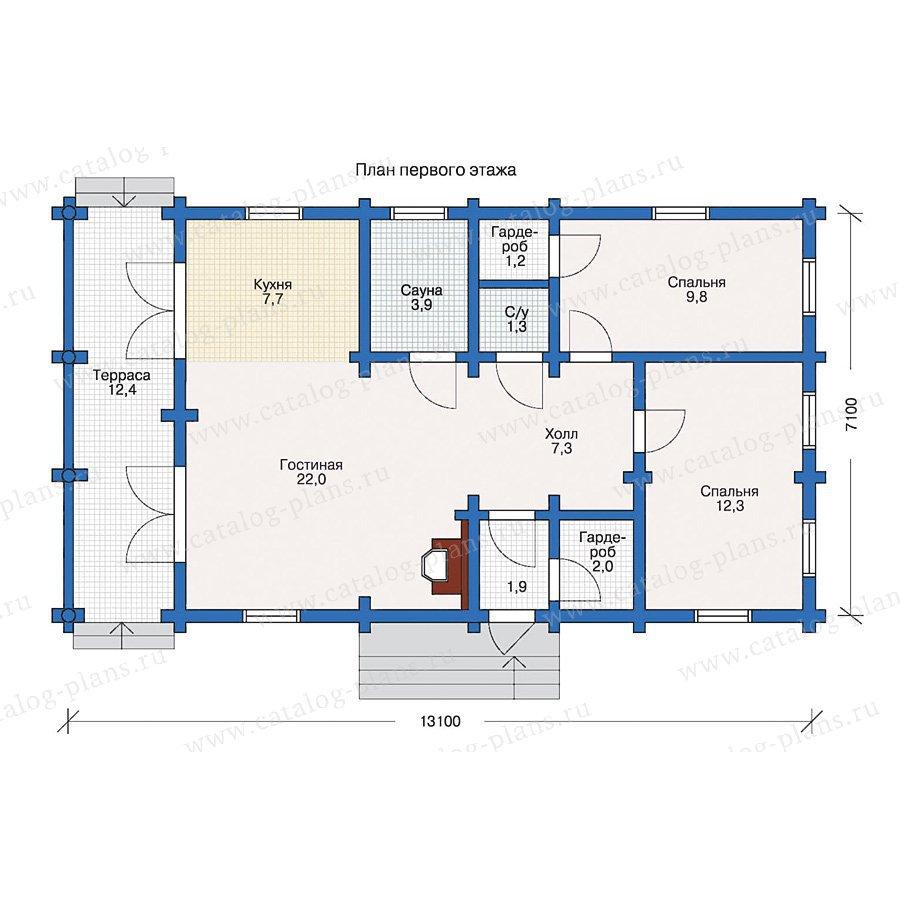 План 1-этажа проекта 10-45