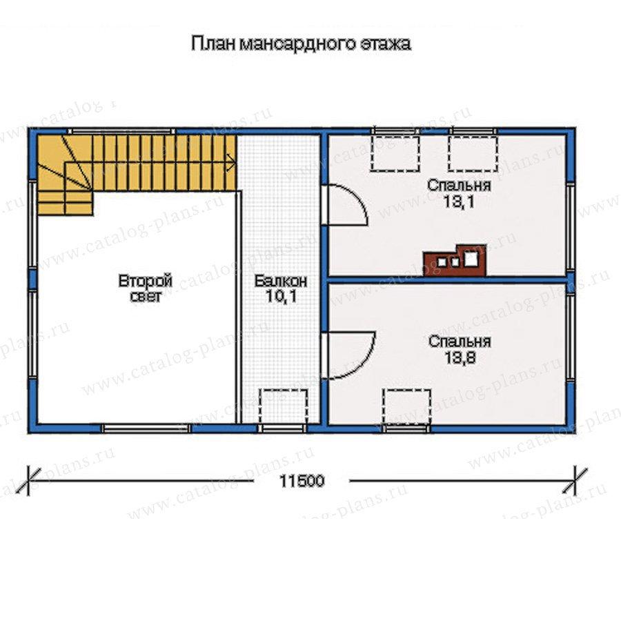 План 2-этажа проекта 10-50