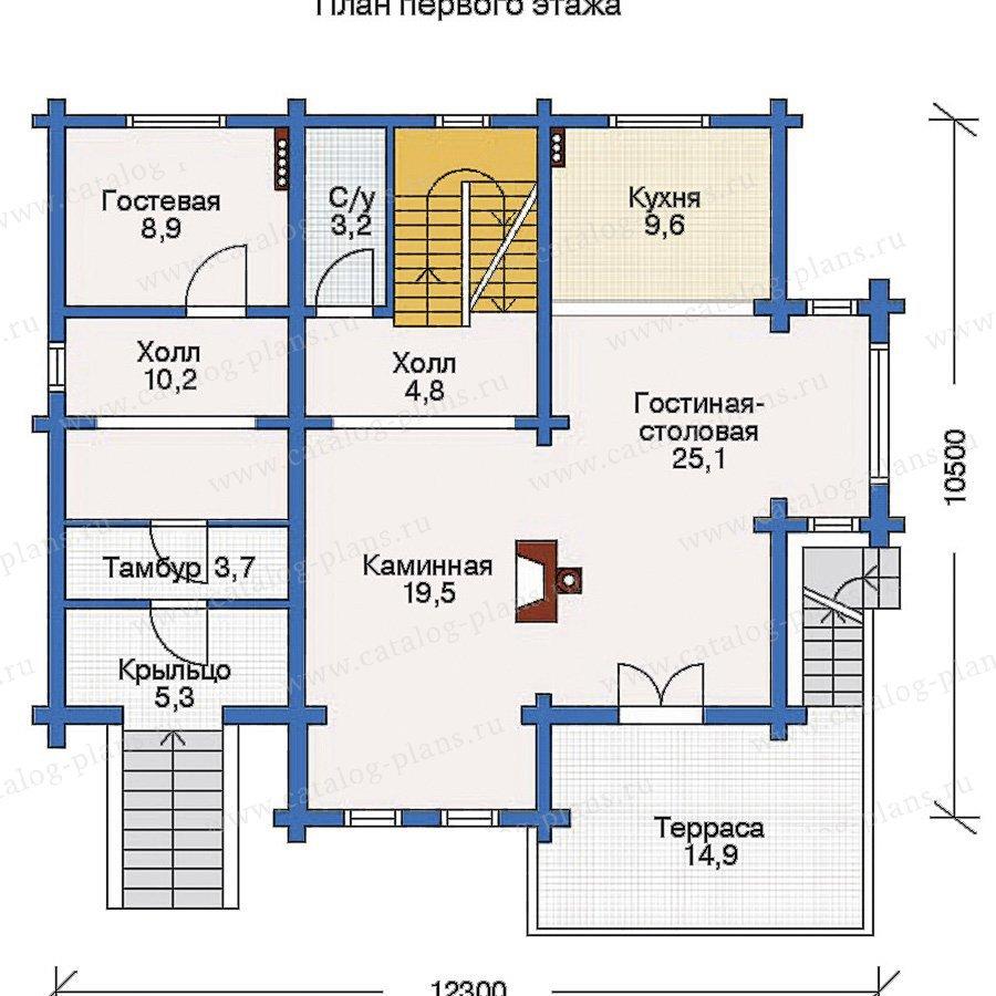 План 2-этажа проекта 10-49
