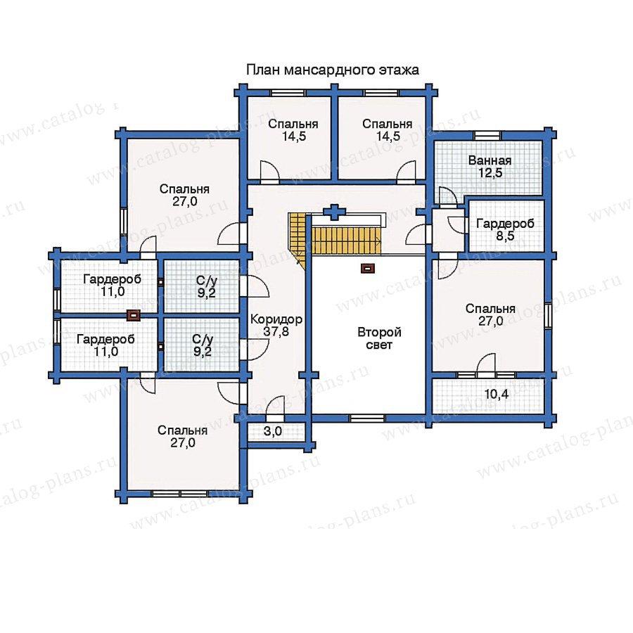 План 2-этажа проекта 10-69