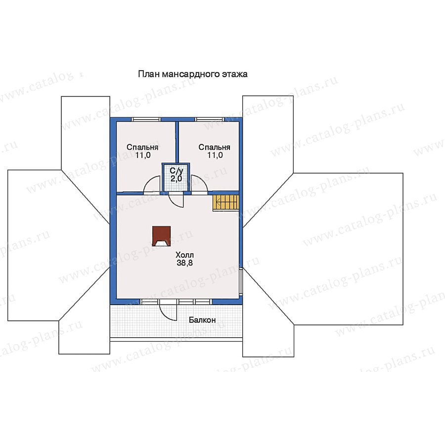 План 2-этажа проекта 10-67