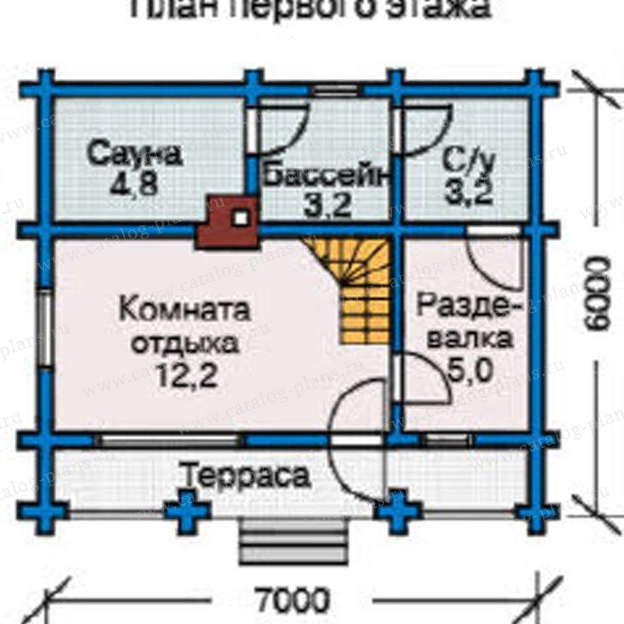 План 1-этажа проекта 10-65