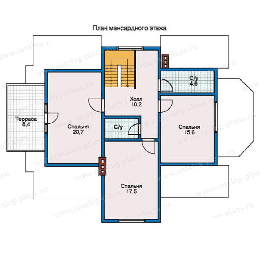 План 2-этажа проекта 10-41