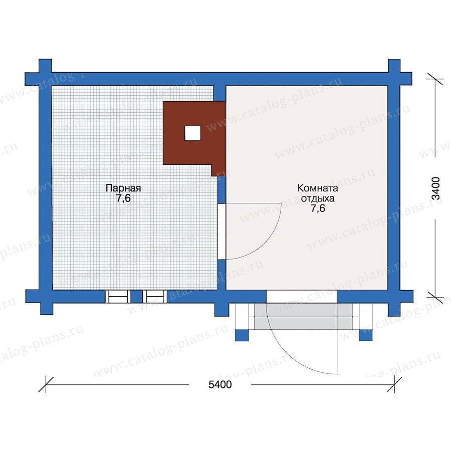 План 1-этажа проекта 10-62
