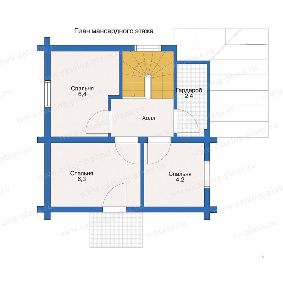 План 2-этажа проекта 10-85