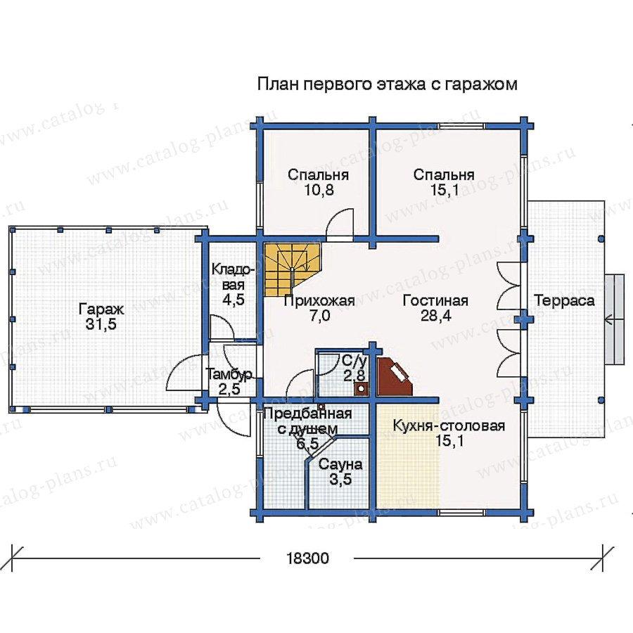 План 2-этажа проекта 10-98