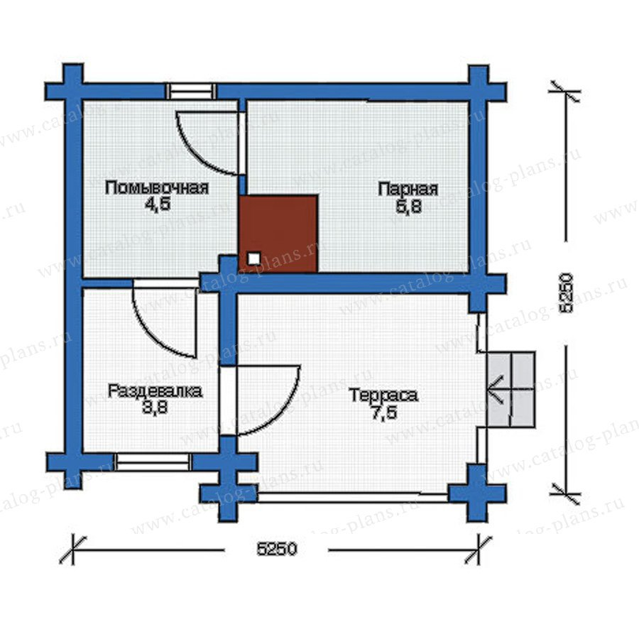 План 1-этажа проекта 10-83