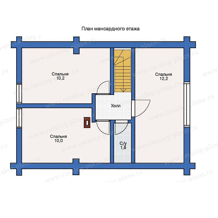 План 2-этажа проекта 10-77