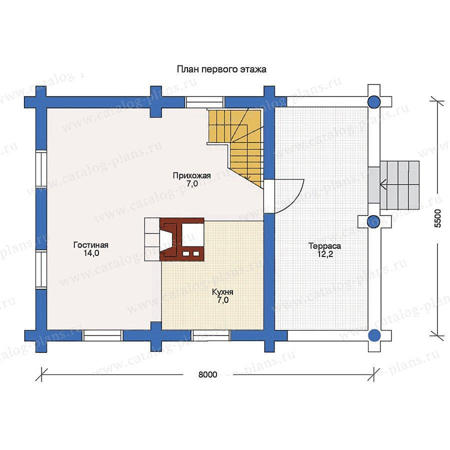 План 1-этажа проекта 10-77