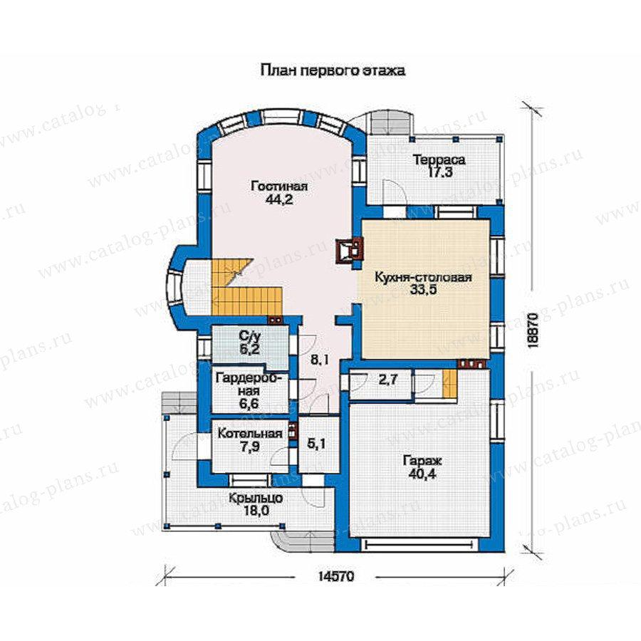 План 1-этажа проекта 34-55