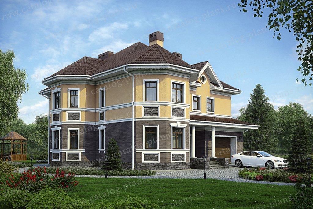Проект жилой дом #31-78 материал - кирпич, стиль американский