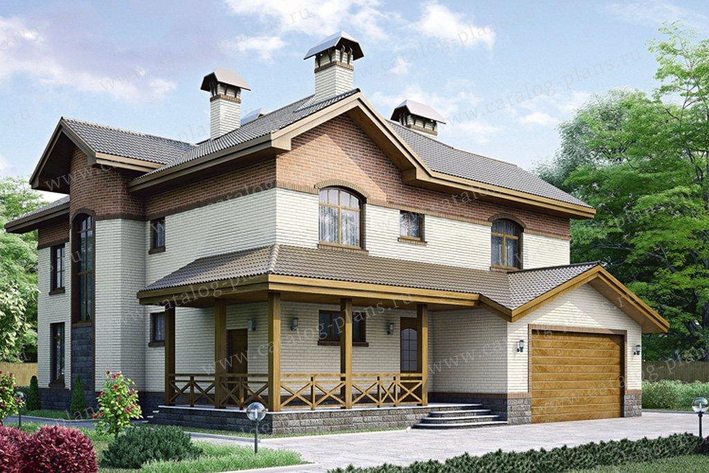 Проект жилой дом #34-55 материал - кирпич, стиль европейский