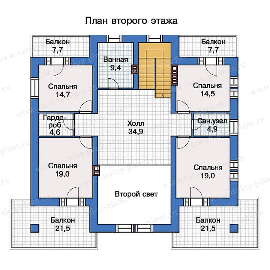 План 2-этажа проекта 40-09