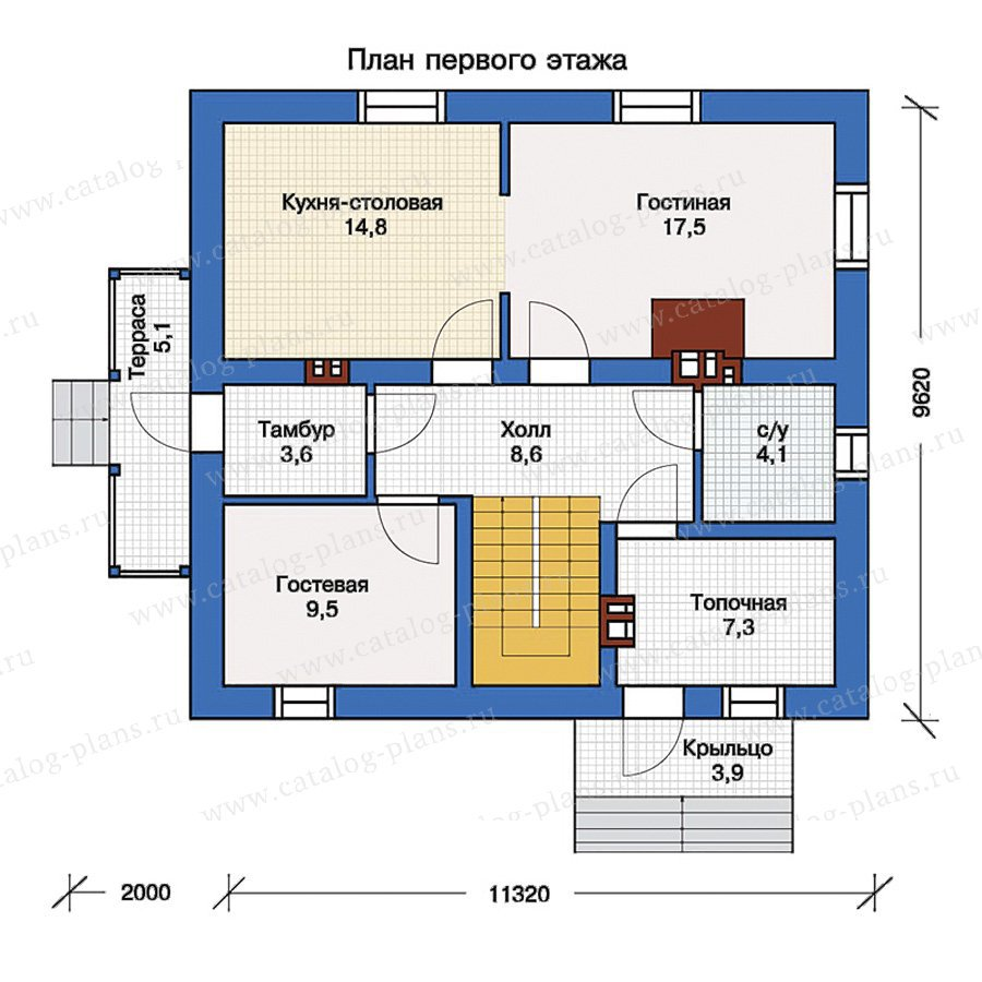 План 1-этажа проекта 40-04