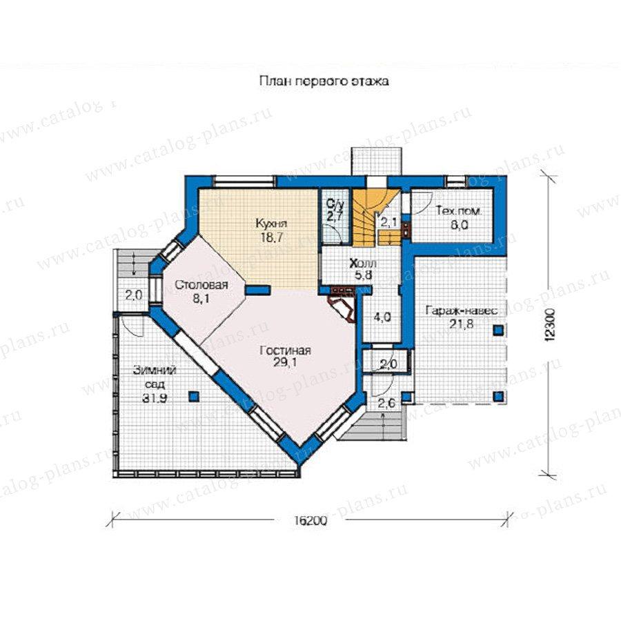 План 1-этажа проекта 49-08