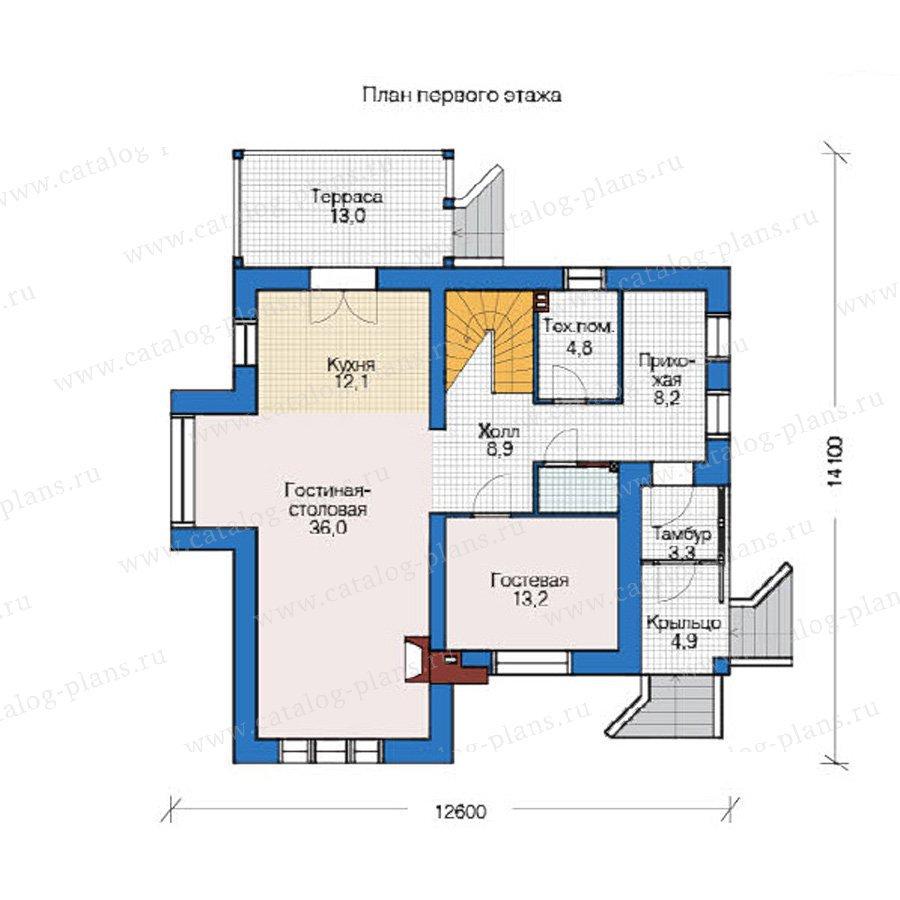 План 1-этажа проекта 49-09