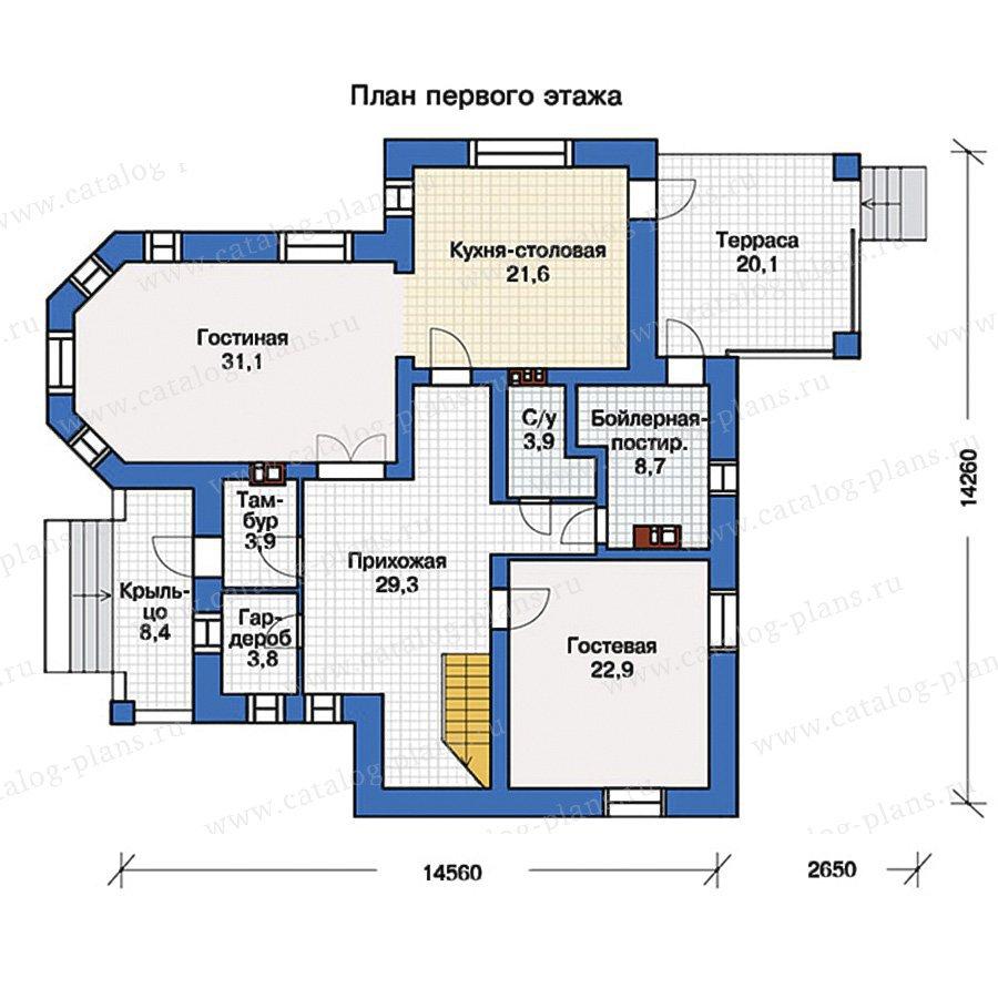 План 1-этажа проекта 40-06G