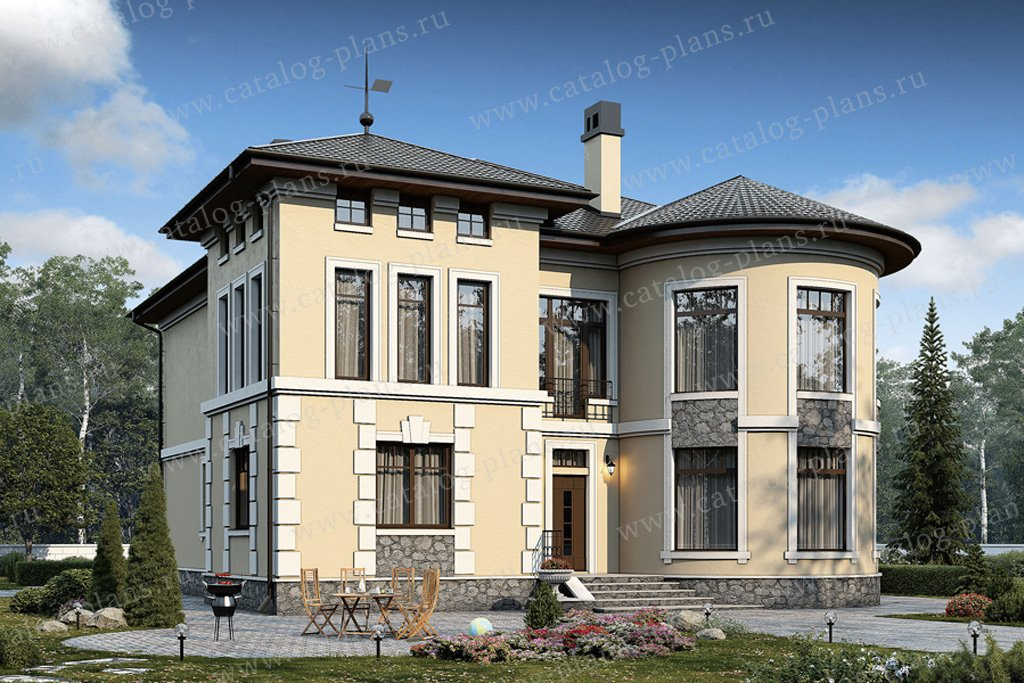 Проект жилой дом #40-10 материал - кирпич, стиль классический