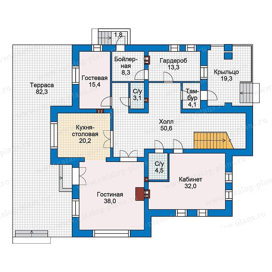 План 1-этажа проекта 40-15