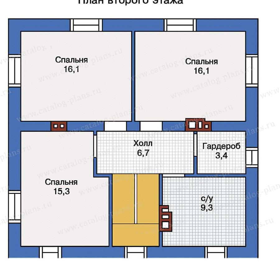 План 2-этажа проекта 40-04