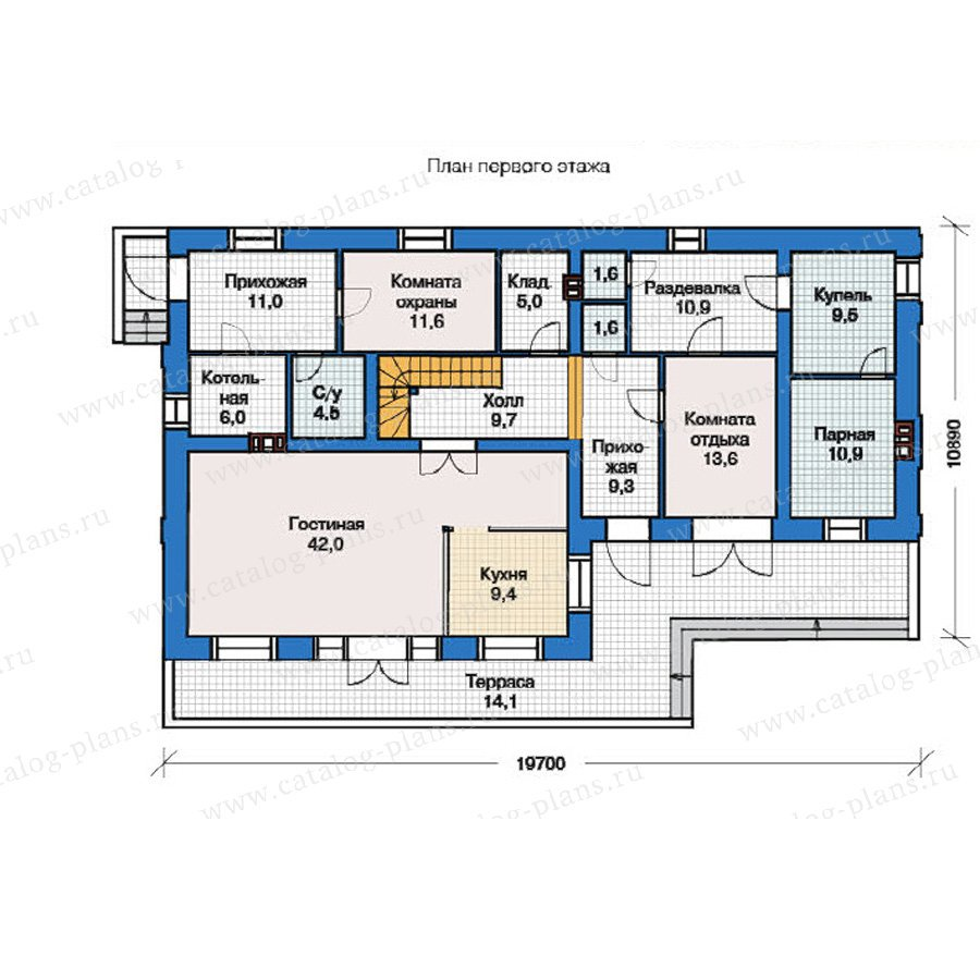 План 1-этажа проекта 49-04