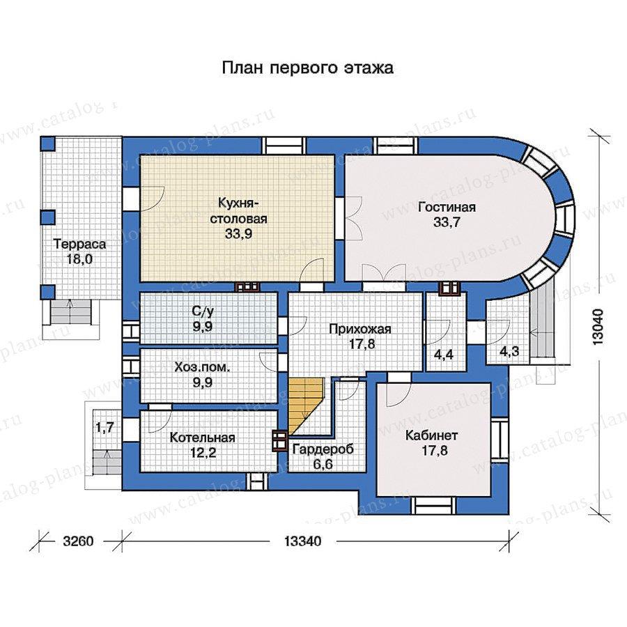 План 1-этажа проекта 40-10